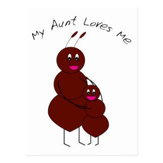 Postal Mi tía Loves Me Postcard