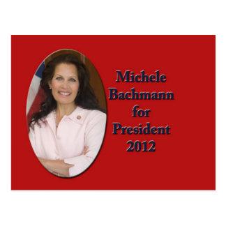 Postal Micaela Bachmann para el presidente 2012