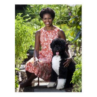 Postal Micaela y BO Obama
