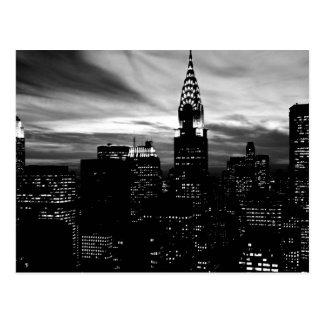 Postal Midtown negro y blanco de New York City