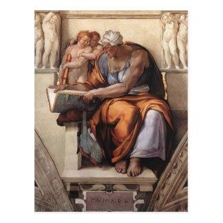Postal Miguel Ángel: Techo de la capilla de Sistine: