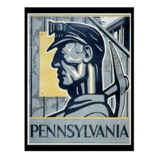 Postal Minero de carbón del Pennsylvanian