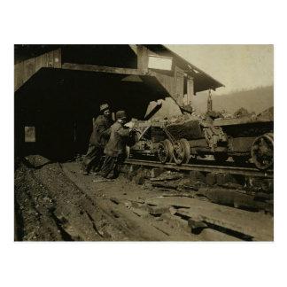 Postal Mineros de carbón