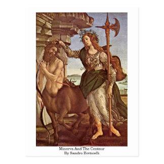 Postal Minerva y el Centaur de Sandro Botticelli