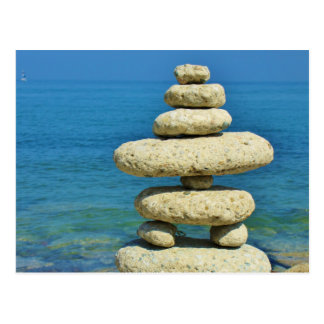 Postal Mini diseño de piedra de la pila