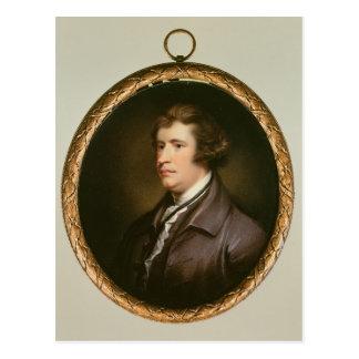 Postal Miniatura de Edmund Burke, 1795
