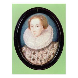 Postal Miniatura de la reina Elizabeth I