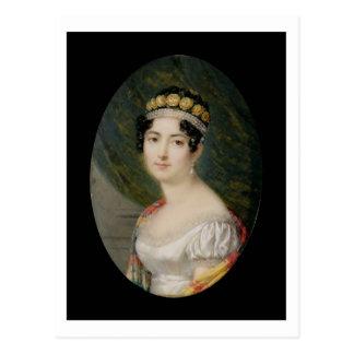 Postal Miniatura del retrato de la emperatriz Josephine
