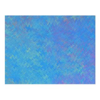 Postal Mirada hermosa del papel veteado del azul