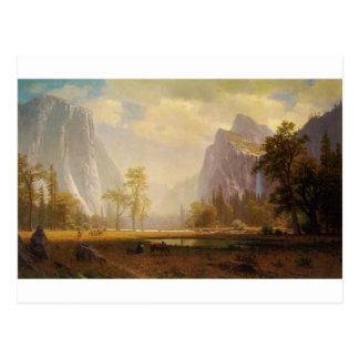 Postal Mirando para arriba el valle de Yosemite - Albert