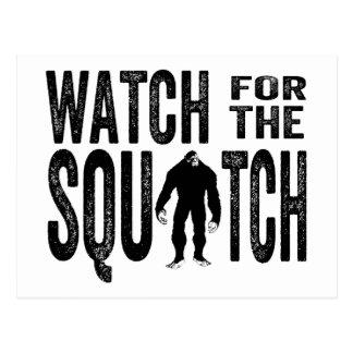 Postal Mire para el Squatch - Bigfoot divertido