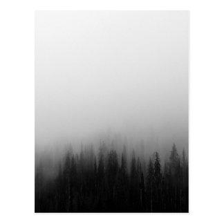 Postal Místico de niebla de la escena del paisaje de la
