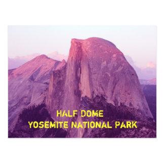 Postal Mitad hecha, parque nacional de Yosemite