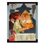 Postal Mitos de Halloween del vintage
