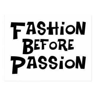 Postal Moda antes de la pasión