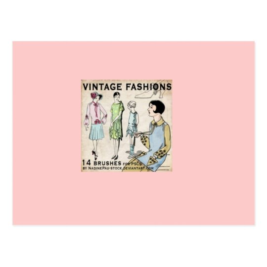 Postal moda del vintage
