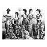 Postal Modas blancos y negros del Victorian