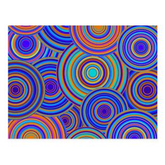 Postal Modelo azul de los círculos de los años 60