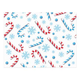 Postal Modelo de barra dulce de caramelo de Christmassy