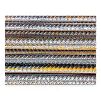 Postal Modelo de barras de acero oxidado