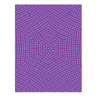 Postal Modelo de estrella púrpura