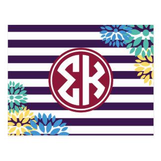 Postal Modelo de la raya del monograma de Kappa el   de