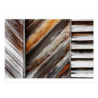Postal Modelo de madera