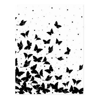 Postal Modelo de mariposa