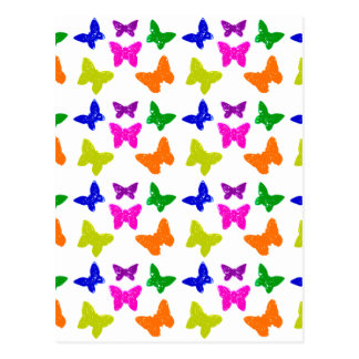 Postal Modelo de mariposas coloreado múltiplo