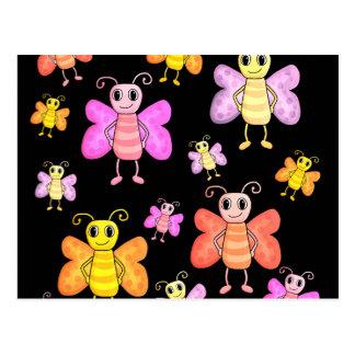 Postal Modelo de mariposas decorativo