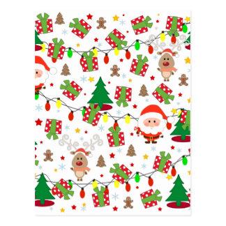 Postal Modelo de Santa y de Rudolph