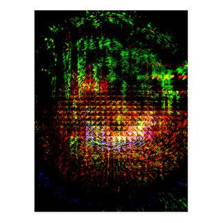 Postal modelo del caleidoscopio del radar