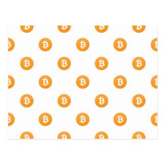 Postal Modelo del logotipo de Bitcoin