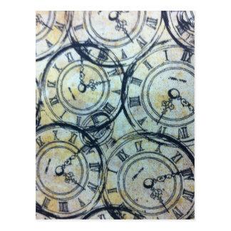 Postal Modelo elegante de los relojes de bolsillo del