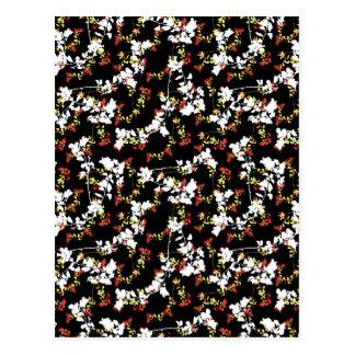 Postal Modelo floral del collage del Chinoiserie oscuro