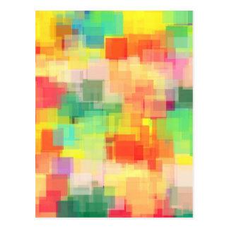 Postal Modelo geométrico abstracto multicolor