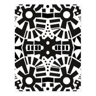Postal Modelo geométrico negro y blanco moderno