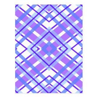 Postal Modelo geométrico púrpura del caleidoscopio