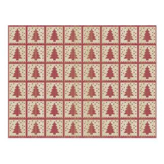 Postal Modelo hecho punto rojo de Christmassy
