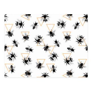 Postal Modelo moderno fresco de las abejas reinas