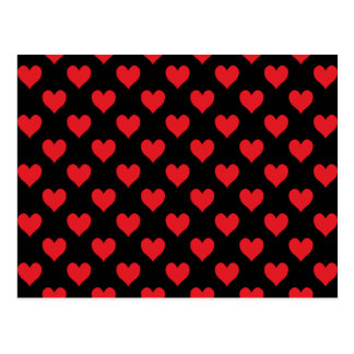 Postal Modelo negro y rojo del corazón