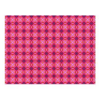 Postal Modelo rosado elegante de los pétalos de la flor