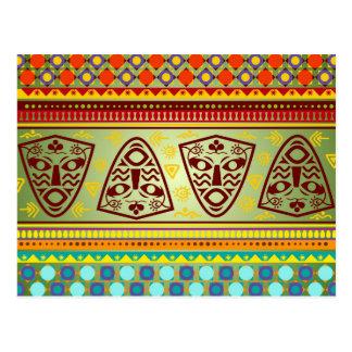 Postal Modelo tribal de la máscara africana brillante