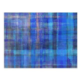 Postal moderna azul del arte abstracto
