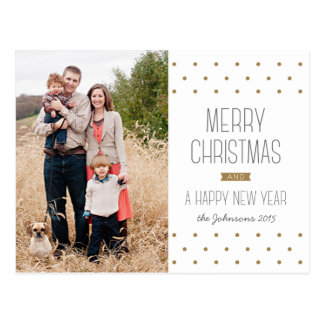 Postal moderna de la foto del navidad de los