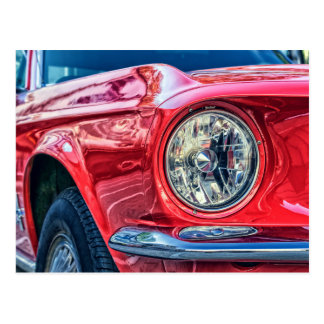postal moderna del coche del músculo