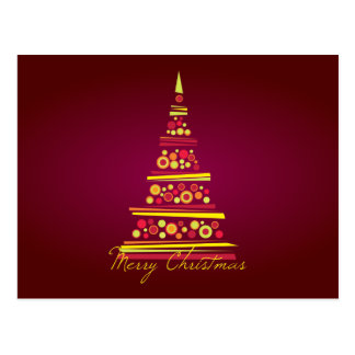 Postal moderna del navidad del árbol