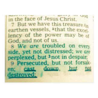 Postal Molde verso abajo pero no destruido de la biblia