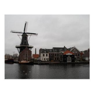 """Postal Molino de viento """"De Adrián"""", Haarlem"""