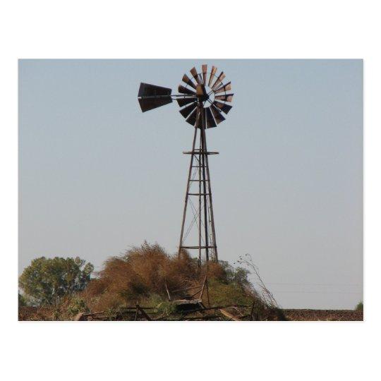 Postal - molino de viento de Kansas